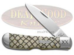Case xx Tribal Lock Knife Natural Bone Fishing Net 1/500 Stainless Pocket Knives