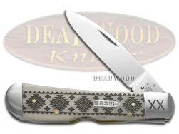 Case xx Tribal Lock Knife Native American Pattern Natural Bone 1/500 Pocket
