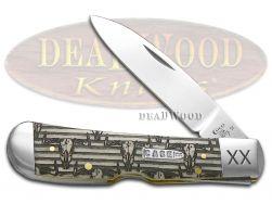 Case xx Tribal Lock Knife Western Bull Skull Natural Bone 1/500 Pocket Knives