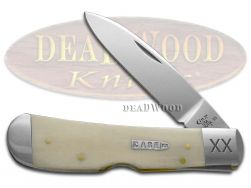 Case xx Tribal Lock Knife Smooth Natural Bone 1/500 Stainless Pocket Knives