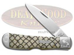 Case xx Tribal Lock Knife Scrolled Natural Bone Fishing Net 1/200  Pocket Knives
