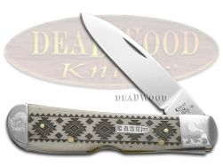 Case xx Tribal Lock Knife Scrolled Native Pattern Natural Bone 1/200 Pocket