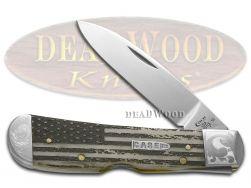 Case xx Tribal Lock Knife Scrolled U.S. Flag Natural Bone 1/200 Pocket Knives