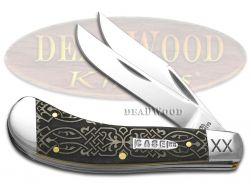 Case xx Saddlehorn Knife Celtic Knot Natural Bone 1/500 Stainless Pocket Knives