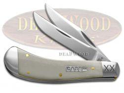 Case xx Saddlehorn Knife Smooth Natural Bone 1/500 Stainless 10741 Pocket Knives
