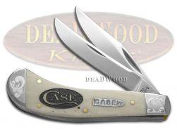 Case xx Saddlehorn Knife Logo Etched Natural Bone Scrolled 1/200 Pocket Knives