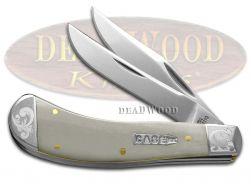 Case xx Saddlehorn Knife Smooth Natural Bone Scrolled 1/300 Pocket Knives