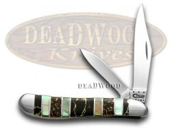 Case xx Peanut Knife Exotic Black Aztec Genuine Black Lip Pearl 1/500 11061