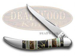 Case xx Toothpick Knife Exotic Black Aztec Genuine Black Lip Pearl 1/500 11062