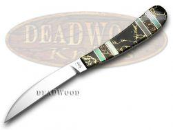 Case xx Desk Knife Exotic Black Aztec Stone Genuine Black Lip Pearl 1/500 11063