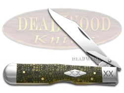 Case xx Cheetah Knife Lizard Skin Olive Green Bone 1/500 Stainless Pocket Knives