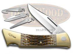 Case xx xx-Changer Knife Jigged Amber Bone Stainless Hunting Pocket Knives 00110