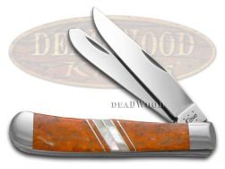 Case xx Trapper Knife Exotic Orange Coral & Mother of Pearl 1/500 Pocket 11104