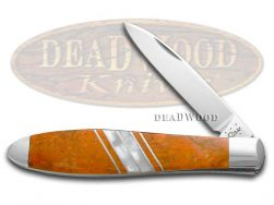 Case xx Tear Drop Gent Knife Exotic Orange Coral & Mother of Pearl 1/500 11107