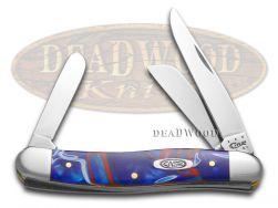Case xx Medium Stockman Knife Patriotic Kirinite Stainless Pocket Knives 11201