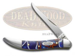 Case xx Toothpick Knife Patriotic Kirinite Handle Stainless Pocket Knives 11202