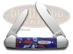 Case xx Canoe Knife Patriotic Kirinite Handle Stainless Pocket Knives 11205
