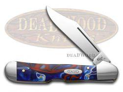 Case xx Mini Copperlock Knife Patriotic Kirinite Stainless Pocket Knives 11211