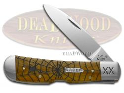 Case xx Tribal Lock Knife Spider Web Antique Bone 1/500 Stainless Pocket Knives