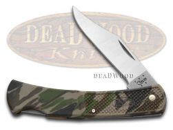 Case xx Lockback Knife Camo Zytel Handle Stainless Steel Pocket Knives 00118