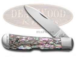 Case xx Tribal Lock Knife Genuine Abalone Handle Stainless Pocket Knives 12011