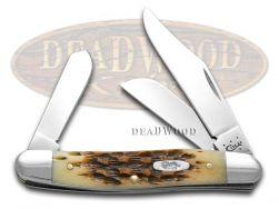 Case xx Medium Stockman Knife Jigged Amber Bone Stainless Pocket Knives 00128