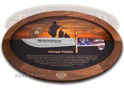 Case xx U.S. Marines Bowie Knife Display Set 1/250 USMC Semper Fidelis 13175