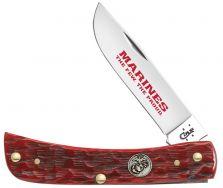 Case xx U.S. Marines Sodbuster Jr. Knife Jigged Red Bone Stainless Pocket 13180