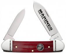 Case xx USMC Marines Canoe Knife Red G-10 Stainless 13200 Pocket Knives