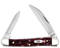 Case xx Mini Copperhead Knife Smooth Cranberry Kirinite Stainless Pocket 13272