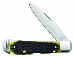 Case xx Tribal Lock Knife Jigged Olive Green Bone Stainless 13282 Pocket Knives