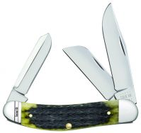 Case xx Sowbelly Knife Jigged Olive Green Bone Stainless 13283 Pocket Knives