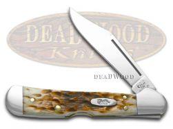 Case xx Mini Copperlock Knife Jigged Amber Bone Stainless Pocket Knives 00133