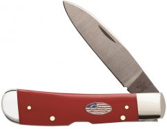 Case xx Tribal Lock Knife Red Delrin American Workman Stainless Pocket 13452