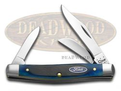 Case xx Ford Medium Stockman Knife Blue Bone Stainless Pocket Knives 14305
