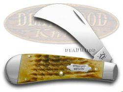 Case xx Hawk Bill Pruner Knife Bradford Cutlery Goldenrod Bone Stainless 16095