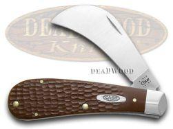 Case xx Jigged Brown Hawkbill Pocket Knife 16 Knives