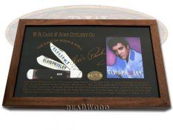 Case xx Elvis Presley Large Swell Center Jack Knife Cabernet Bone 1/100 17517