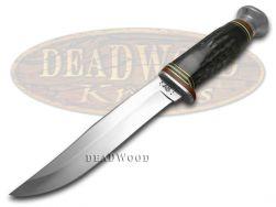 Case xx Fixed Blade Hunter Knife Genuine Buffalo Horn Handle Stainless 17912