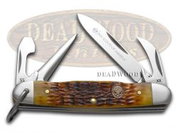 Case xx Boy Scouts of America Antique Bone Jr Scout Stainless 18032 Pocket Knife