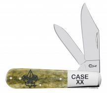Case xx Boy Scouts Barlow Knife First Class Emblem Olive Green Bone Pocket 18054