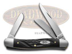 Case xx Medium Stockman Knife Rough Black Delrin Stainless Pocket Knives 18222