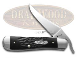 Case xx Russlock Knife Rough Black Delrin Series Stainless Pocket Knives 18224