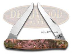 Case xx Caliber Muskrat Knife Pink Camo Zytel Stainless Pocket Knives 18304