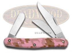 Case xx Caliber Stockman Knife Pink Camo Zytel Stainless Pocket Knives 18325
