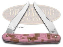 Case xx Caliber Muskrat Knife Pink Camo Zytel Stainless Pocket Knives 18326