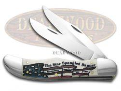 Case xx Folding Hunter Knife Star Spangled Banner Natural Bone 1/250 18701