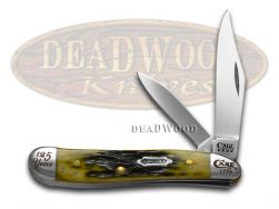 Case xx Peanut Knife Olive Green Bone 1/5000 125th Anniversary Stainless 18801