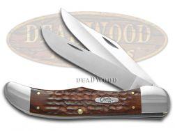 Case xx Folding Hunter Knife Jigged Brown Stamina Wood Stainless Pocket 00189