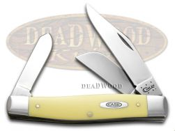 Case xx Large Stockman Knife Yellow Delrin Handle CV Pocket Knives 00203